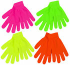 Kids Magic Gloves One Pair Winter Warm Girls Boys Stretch Neon Color Soft Gloves