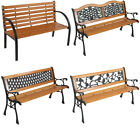 Patio Garden Bench Park Seat Furniture Porch Path Chair Outdoor Deck Steel Frame
