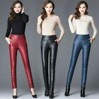 Lady Padded Pants Quilted Puffer Trouser Thick Leggings Slim Warm Winter Classic