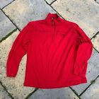 MOD Surplus Mountain Hardwear Red Thermal Fleece Zip Neck Mid Layer Used Grade 1