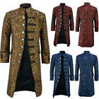 Mens Steampunk Gothic Victorian Frock Coat Jacket Tailcoat Medieval Costumes