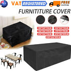 Heavy Duty Black Garden Furniture Cover Waterproof  Cover Outdoor Sofa Cover Uk