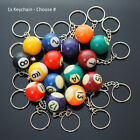 1x Billiards Table Pool Ball Keychain Cool Player Gift  - Choose Numbers 1-15