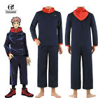 Jujutsu Kaisen Yuji Itadori Cosplay Costume Navy Blue Mens School Uniform Suit