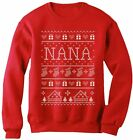 TeeStars - Nana Ugly Christmas Sweater - Funny Gift for Grandma Women Sweatshirt