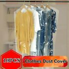 10X Garment Dust Cover Disposable for Dust Suit Bag Waterproof Storage Bag Clear