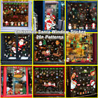 Christmas Window Wall Stickers Santa Claus Xmas Wallpaper Home Decor Decorations