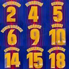 2017-18 Barcelona Player Issue Home Name Set Avery for Shirt Jersey