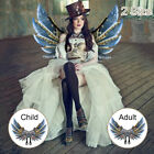 Halloween Steampunk Style Gear Wings Role Playing Unisex for Children Adult US