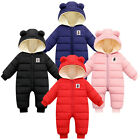 Toddler Baby Kids Boys Girls Hooded Thick Snowsuit Romper Coat Warm Outwear