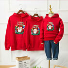 Adult Kids Family Matching Christmas Print Jumper Sweater Hoodie Pullover Tops