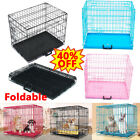 New Dog Cage Pet Puppy Crate Carrier Home Folding Door Training Kennel S M L XL