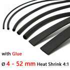 4 - 52 mm Heat Shrink 4:1 Heatshrink Tube Electrical Wire Cable Sleeving Black