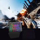 One Handed Mechanical Feel Keyboard Gaming Left Hand Wired Keypad For Lol Game
