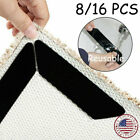 8/16PCS Carpet Mat Grippers Anti Slip Rubber Rug Sticker Skid Tape Reusable