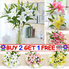 Artificial Silk Fake Lilies Flower Large Bouquet Bridal Wedding Party Home Decor