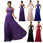 Sleeveless V-Back Chiffon Ball Gown Evening Prom Party Dress 12 Size US 2~24W