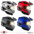 New CKX Mission AMS Snowmobile Helmet W/ Electric Shield SPACE WhiteRedBlueGray
