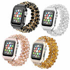Crystal Beads Bracelet Band Strap Protect Case For Apple Watch Series 6 5 4 3 SE