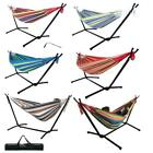 Double Hammock w/ Space Saving Steel Stand /w Portable Carrying Case US Ship