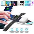 3 in 1 QI Wireless Charger Charging Pad Station For Apple Air Pods iPhone iWatch