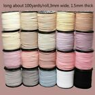 100 Yards Faux Suede Leather Jewelry Cord Flat Strap Velvet Lace Thread DIY Home