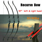 "57"" Takedown Recurve Bow Hunting 3D Archery Target Practice Right&Left Hand HOT"