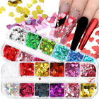 Love Heart Flakes Holographic Laser Nail Art Glitter Sequins Nail Decoration US
