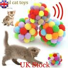 Funny Soft Kitten Cat Toy Plush Ball Pet Dog Toys Balls Interactive Assorted LT