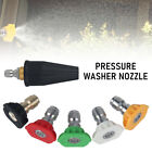 6-Pack Pressure Washer Rotating Turbo Nozzle with 5 Spray Nozzle 2.5 PSI 1/4