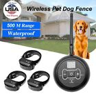 Wireless Electric Dog Pet Fence Containment System Shock Collars For 1/2/3 Dogs