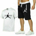 Men's T-Shirt Jogging Shorts Bottoms Suit Tracksuit Set Track Tops Short Sleeve <br/> PREMIUM QUALITY✔CHEAP!!✔Slim Fit✔Gymwear✔