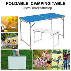 NEW FOLDING CAMPING TABLE ALUMINIUM PICNIC PORTABLE ADJUSTABLE PARTY BBQ OUTDOOR