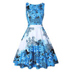 Women's Sleeveless Vintage 50s Floral Summer Dresses Party Cocktail Swing Dress