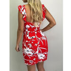 Women Sleeveless Bodycon Wrap Mini Dress Casual Floral Loose Party Sexy Sundress