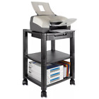 Kantek Mobile Printer Stand, Three-Shelf, Two-Shelf, Adjustable Two-Level Stand