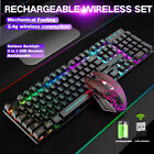 T3 Wireless Gaming Keyboard  Mouse Mice Set LED Backlit for PC PS4 Xbox one