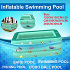 300CM Inflatable Square Kids Swimming Padding Pool Play Bathing Family Outdoor