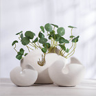 Nordic Ceramic Vase Creative Modern White Eggshell Flower Crafts Home Decor