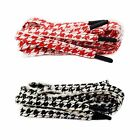 Houndstooth Thick Flat Shoe Laces for Dunk SB Low Habibi Pied-de-poule Dogtooth