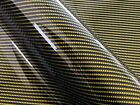 WRPD. Twill Weave Midnight Yellow Carbon Fibre (W 1500mm)