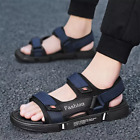 Men Summer Breathable Mesh Sandals Soft Flat Non-Slip Outdoor Beach Casual Shoes