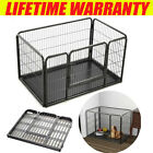 Puppy Pet Playpen Dog Play Pen In/Outdoor Metal Portable Folding Animal Exercise