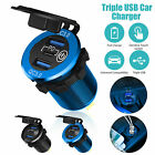 3 USB QC3.0+PD 3.0 12V-24V LED Car Fast Charger Socket Power Outlet Touch Switch
