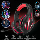 3.5mm Gaming Headset Mic Stereo Bass Surround LED Headphones For PC Xbox One PS4