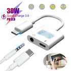 2 in 1 USB Type C to 3.5mm Aux Audio Cable Charger Headphone Adapter For Samsung
