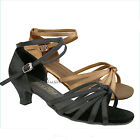 BALLROOM LATIN SALSA TANGO BROWN DANCE SHOES SZ 4.5-10
