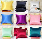 """1 PC 16MM 100% PURE SILK SATIN EURO PILLOW CASE COVERS SHAMS SIZE 26""""X26"""""""