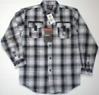 Southpole Boys Long Sleeve Black White Plaid Button Front Shirt