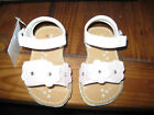 Specialty Girl Lil Gracie White Sandals Pink Flower NWT